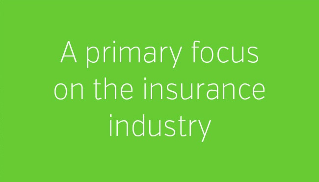A primary focus on the insurance industry