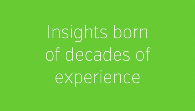 Insights born of decades of experience